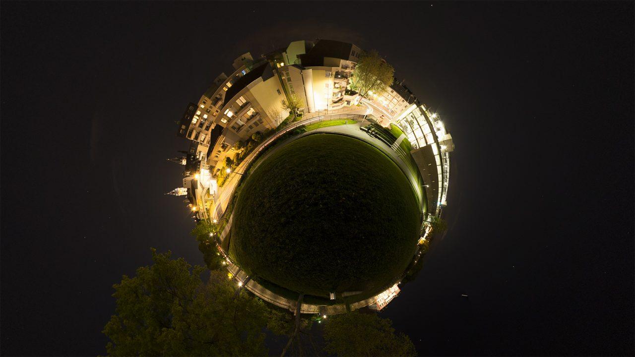 Mainz nachts Dom, Zitadelle, kleine Welt