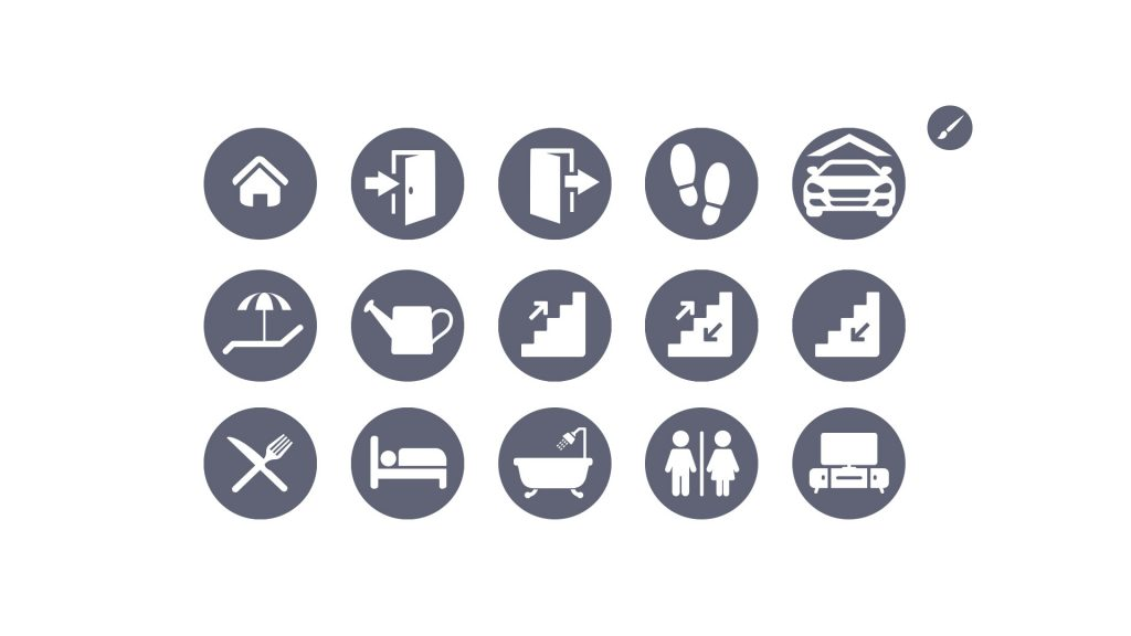 Navigations Icons für die Tour