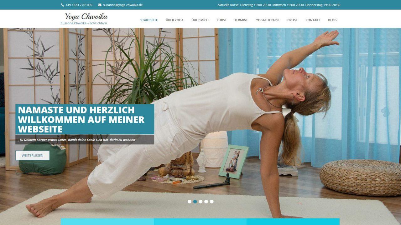 Wordpress Webseite für Yoga Studio
