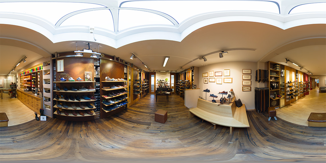360° Rundgänge für den Schuhhandel