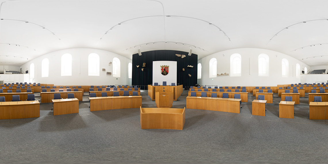 Landtag Rheinland Pfalz Mainz - Plenarsaal als 360° Panorama
