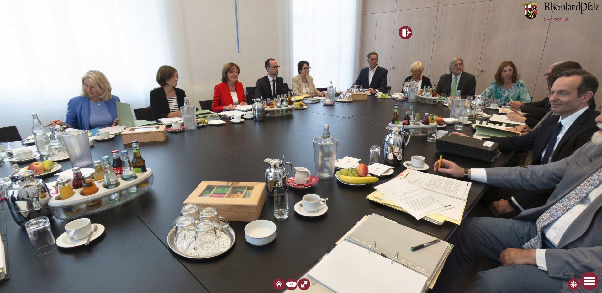 Ministerratssitzung in 360°